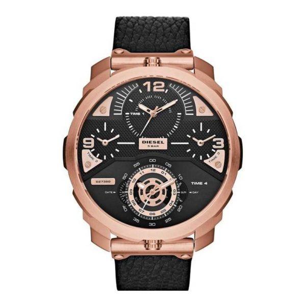 DIESEL DZ7380 Herrenuhr Chronograph Leder Rosé - John-Calf