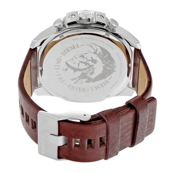 DIESEL Mega Chief DZ4290 Herrenuhr Chronograph Leder Schwarz - John-Calf