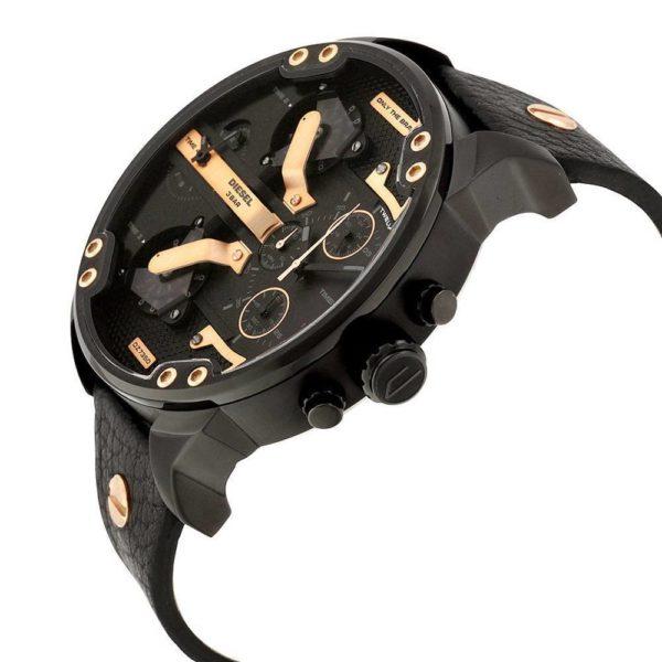 DIESEL Mr. Daddy 2.0 DZ7350 Herrenuhr Chronograph Leder Schwarz - John-Calf
